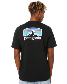 BLACK MENS CLOTHING PATAGONIA TEES - 38501BLK