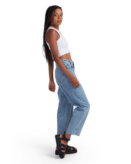 STONE BLUE WOMENS CLOTHING RVCA JEANS - R415222-SBE