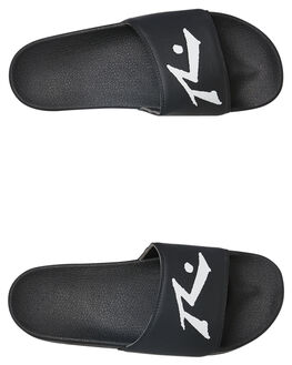 BLACK MENS FOOTWEAR RUSTY SLIDES - FOM0338BLK
