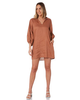 RUST WOMENS CLOTHING LILYA DRESSES - LD2024-_RUST
