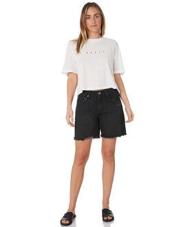 ACES BLACK WOMENS CLOTHING RUSTY SHORTS - WKL0653ACB