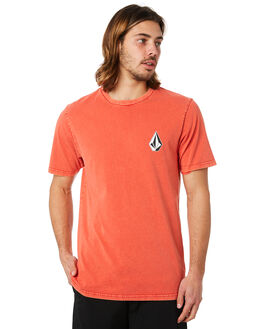 WHY ROCK RED MENS CLOTHING VOLCOM TEES - A4341873WRR