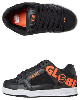 BLACK ORANGE KIDS BOYS GLOBE SKATE SHOES - GBKTILT20343
