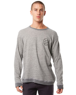 HEATHER GREY MENS CLOTHING MOLLUSK JUMPERS - MS1367HGRY