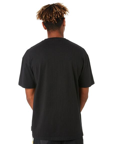 WASHED BLACK MENS CLOTHING GLOBE TEES - GB02030001WBLK