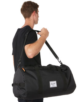 BLACK MENS ACCESSORIES HERSCHEL SUPPLY CO BAGS + BACKPACKS - 10348-00001-OSBLK