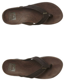 DARK BROWN MENS FOOTWEAR REEF THONGS - 2616DAB
