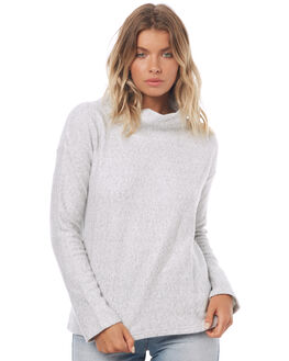 LIGHT GREY MARLE WOMENS CLOTHING SWELL KNITS + CARDIGANS - S8171546LTGYM