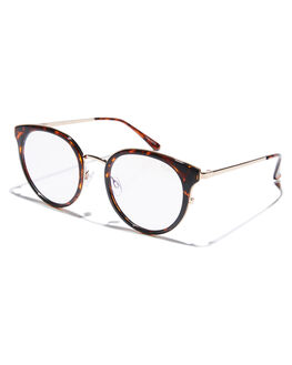 TORT CLEAR WOMENS ACCESSORIES QUAY EYEWEAR SUNGLASSES - QW-000484TORCL