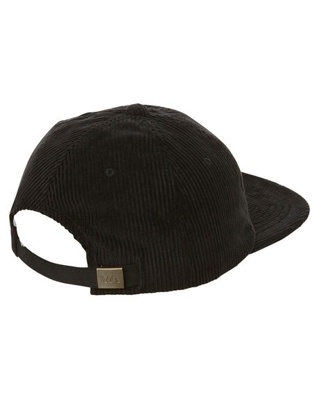 BLACK MENS ACCESSORIES RVCA HEADWEAR - R173566ABLK