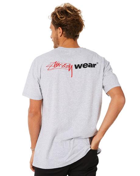 LIGHT GREY MENS CLOTHING STUSSY TEES - ST087001LGMRL