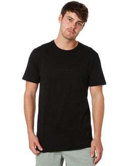 BLACK MENS CLOTHING RUSTY TEES - TTM2283BLK