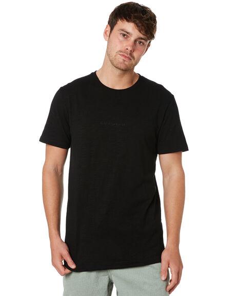BLACK MENS CLOTHING RUSTY TEES - TTM2283BLK