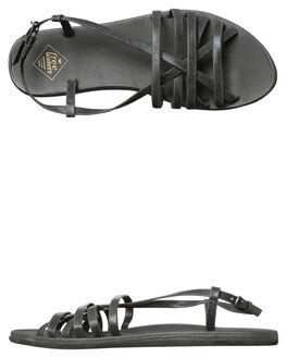 BLACK OUTLET WOMENS FREEWATERS FASHION SANDALS - WO043BLK