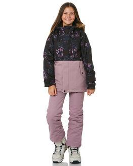 BLACK FLORAL PRINT BOARDSPORTS SNOW VOLCOM GIRLS - I0452005BFP