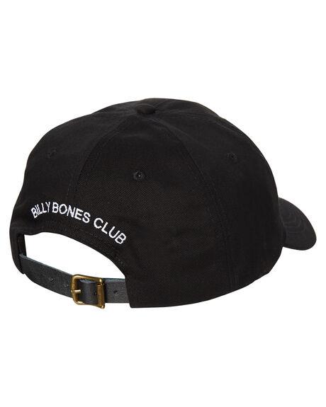 BLACK MENS ACCESSORIES BILLY BONES CLUB HEADWEAR - BBCHAT001BLK