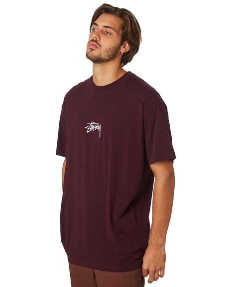 AUBERGINE MENS CLOTHING STUSSY TEES - ST082000AUB