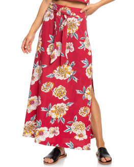 DEEP CLARET SEPT WOMENS CLOTHING ROXY SKIRTS - ERJWK03068-RQH6