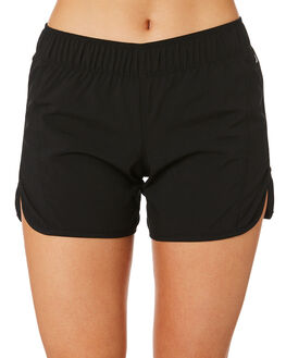 BLACK WOMENS CLOTHING HURLEY SHORTS - BV2051-010