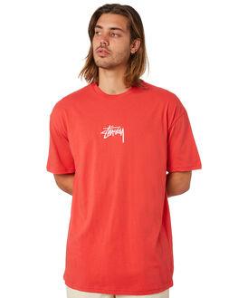 VINTAGE RED MENS CLOTHING STUSSY TEES - ST082000VNRED