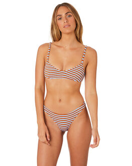SKY CLAY WOMENS SWIMWEAR SOLID AND STRIPED BIKINI BOTTOMS - WS-1941-1543SKCLY
