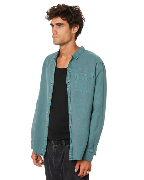 GREEN MENS CLOTHING ROLLAS SHIRTS - 16124B279