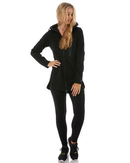 BLACK WOMENS CLOTHING RIP CURL JACKETS - GFEGO10090