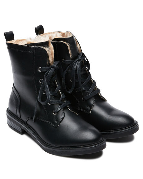 BLACK WOMENS FOOTWEAR THERAPY BOOTS - 9660BLK