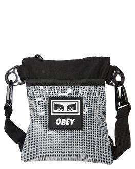 BLACK MENS ACCESSORIES OBEY BAGS + BACKPACKS - 100010119BLK