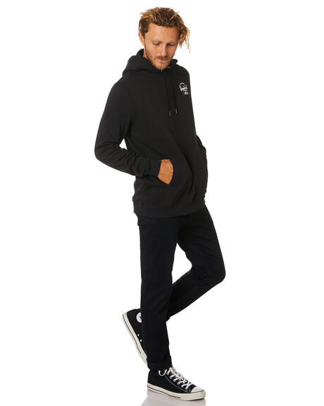 BLACK WHITE MENS CLOTHING HERSCHEL SUPPLY CO JUMPERS - 50033-00266BLKWH