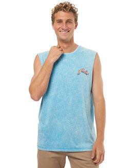 ATOMIC BLUE MENS CLOTHING RUSTY SINGLETS - MSM0229ATB