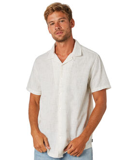 ANTIQUE WHITE MENS CLOTHING RVCA SHIRTS - R393193ANWHT
