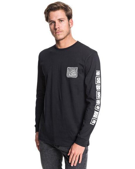 BLACK MENS CLOTHING QUIKSILVER TEES - EQYZT05506-KVJ0