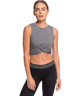 CHARCOAL HEATHER WOMENS CLOTHING ROXY ACTIVEWEAR - ERJKT03665-KTAH