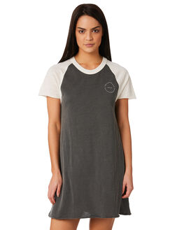 WASHED BLACK WOMENS CLOTHING RVCA DRESSES - R281762WBK