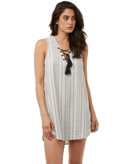 WHITE OUTLET WOMENS RHYTHM DRESSES - JAN18W-DR05-WHTWHT