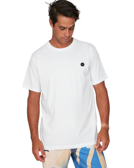 WHITE MENS CLOTHING RVCA TEES - RV-R106064-WHT