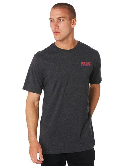 CHARCOAL MARLE MENS CLOTHING VOLCOM TEES - A57418G0CHAR