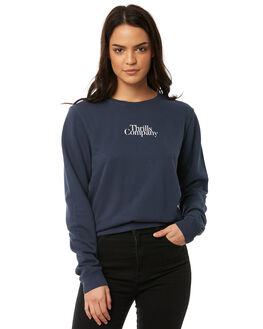 FADED MARINE WOMENS CLOTHING THRILLS JUMPERS - WTA8-203EFMAR