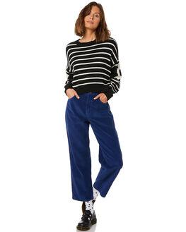 TWILIGHT BLUE WOMENS CLOTHING AFENDS PANTS - W181452TBLU