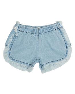 WASHED BLUE KIDS TODDLER GIRLS BILLABONG SHORTS - 5572278WSB