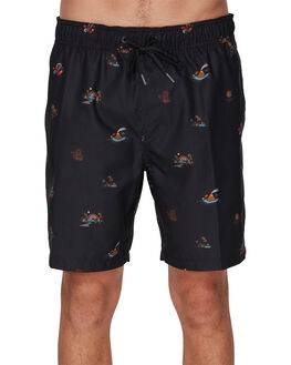 BLACK MULTI MENS CLOTHING BILLABONG BOARDSHORTS - BB-9591418-BKU
