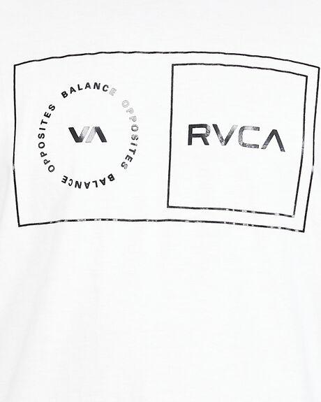 WHITE MENS CLOTHING RVCA TEES - RV-R307049-WHT