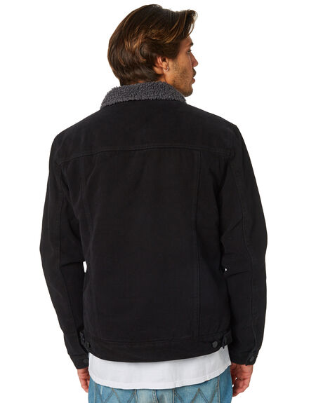BLACK MENS CLOTHING SWELL JACKETS - S5162385BLK