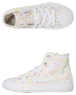 WHITE KIDS GIRLS CONVERSE SNEAKERS - 666875CWHT
