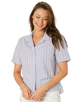 WHITE STRIPE OUTLET WOMENS COOLS CLUB FASHION TOPS - 301-CW4WHIS
