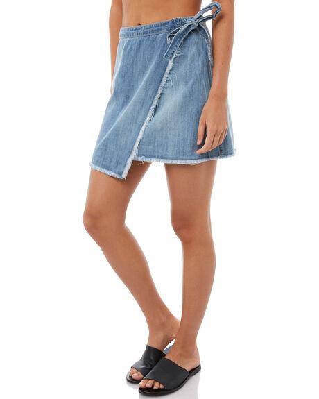 MEDIUM BLUE WOMENS CLOTHING ROXY SKIRTS - ERJWK03034BGY0