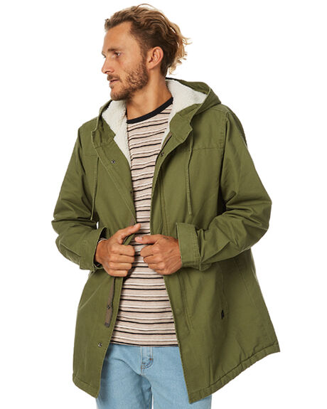 ARMY GREEN MENS CLOTHING THRILLS JACKETS - TW7-218FAGRN