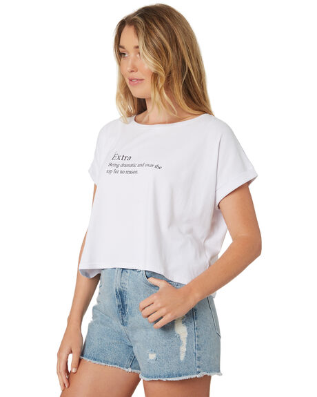 WHITE OUTLET WOMENS ALL ABOUT EVE TEES - 6426141WHI