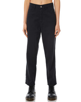 BLACK WOMENS CLOTHING AFENDS PANTS - W183400-BLK